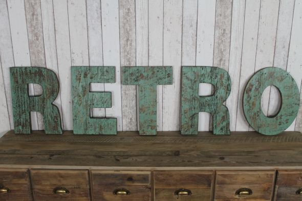 large painted shabby chic vintage style rustic wooden retro wall sign