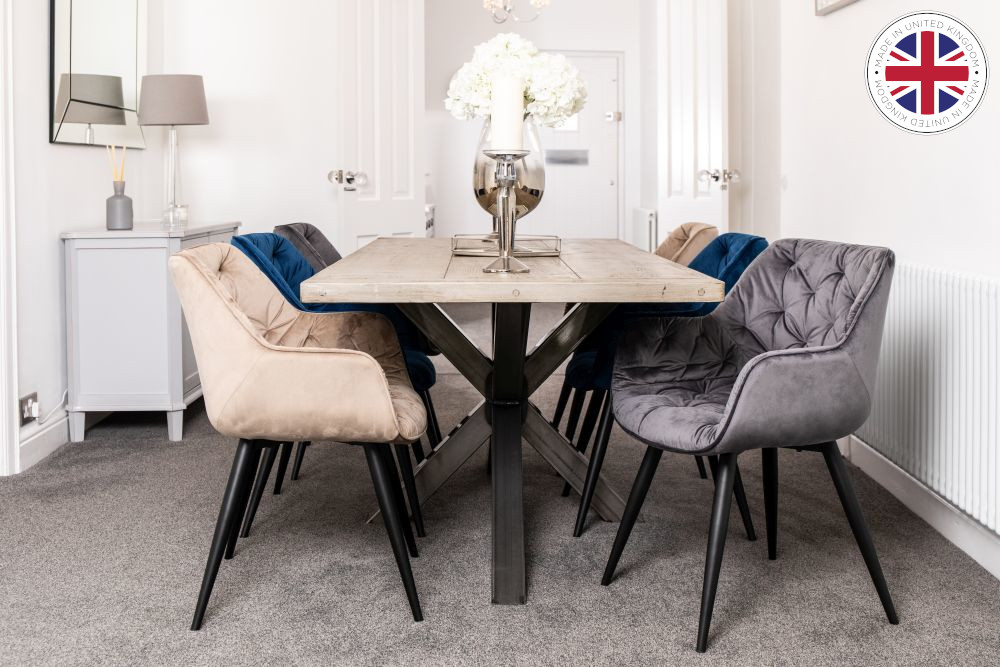 Oversized Industrial Dining Table Peppermill Interiors