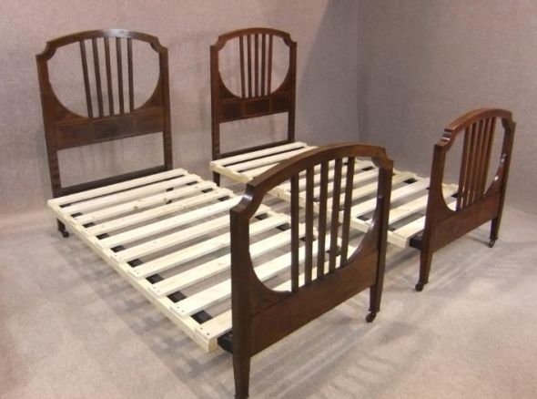 Pair of Edwardian beds
