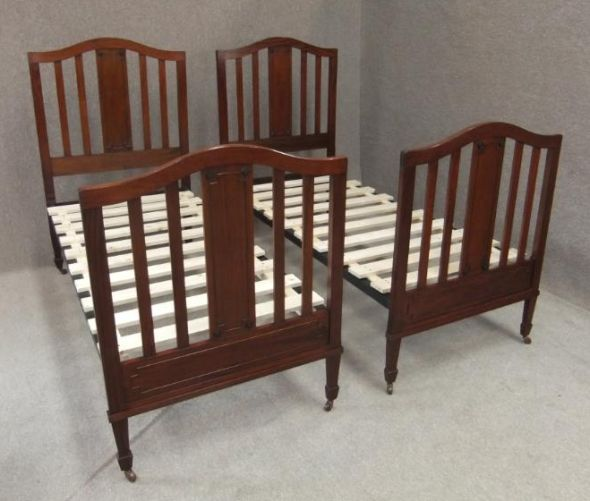 Pair of Edwardian single beds