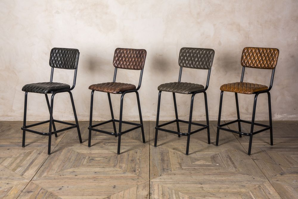 quilted leather bar stools