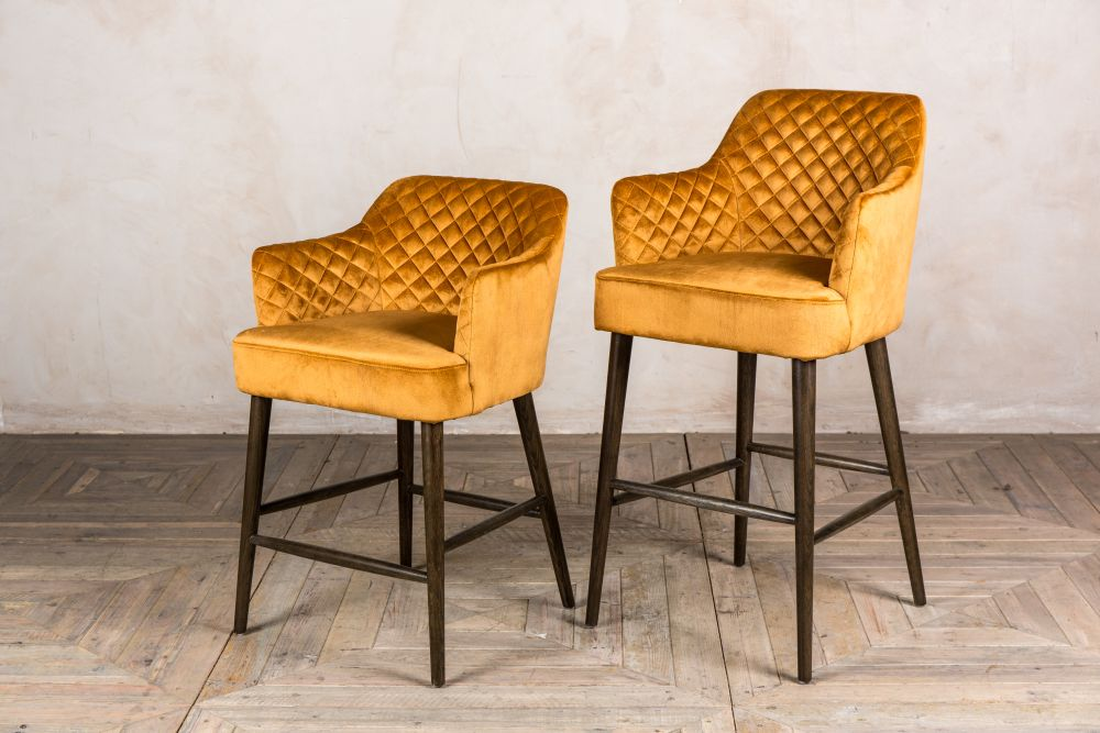 Quilted Bar Stools Rouen Range Peppermill Interiors