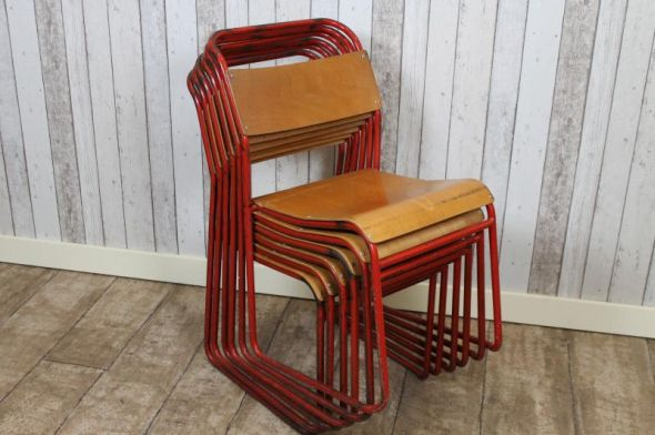 old stacking school chairs