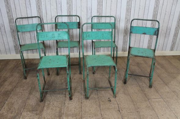 stackable chairs vintage