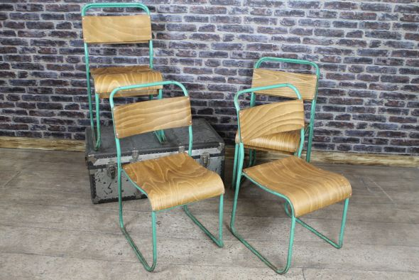 Peppermint green stacking chair
