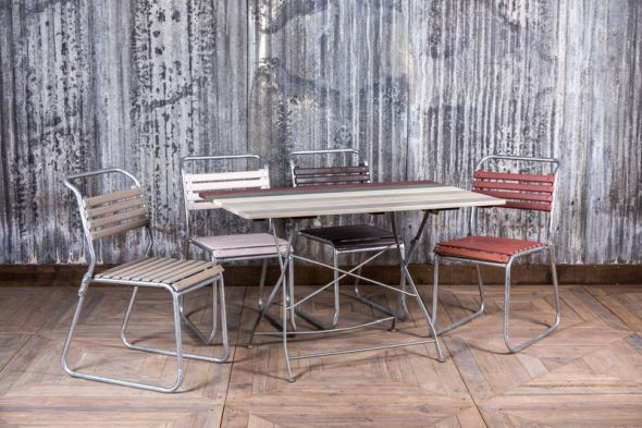 vintage distressed folding tables