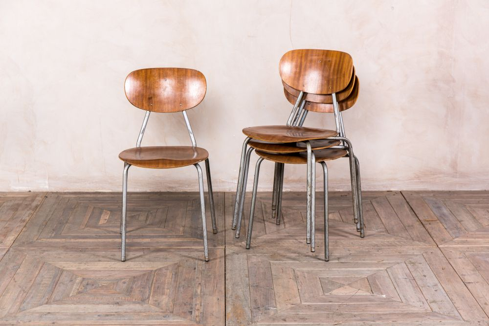 Retro Metal Dining Chairs Vintage Peppermill Interiors