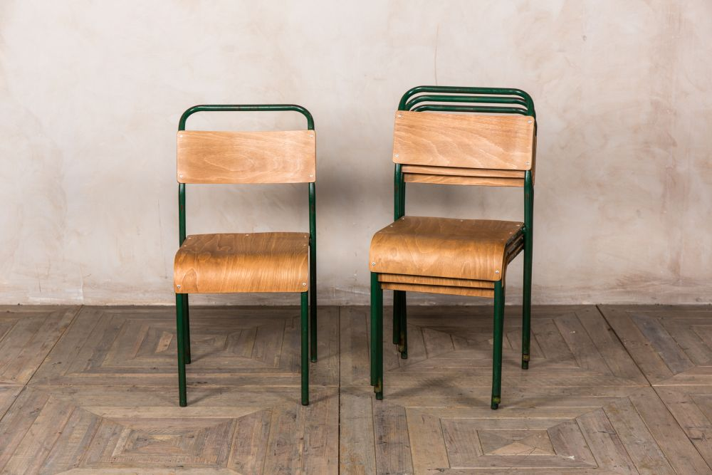 tubular steel dining chairs