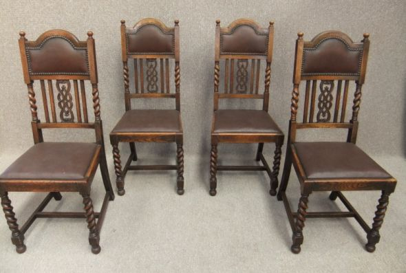 Set of Edwardian dining chairs