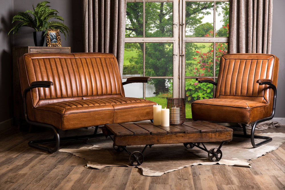 Excellent Vintage Style Leather Sofa Armchair Peppermill Interiors Gmtry Best Dining Table And Chair Ideas Images Gmtryco