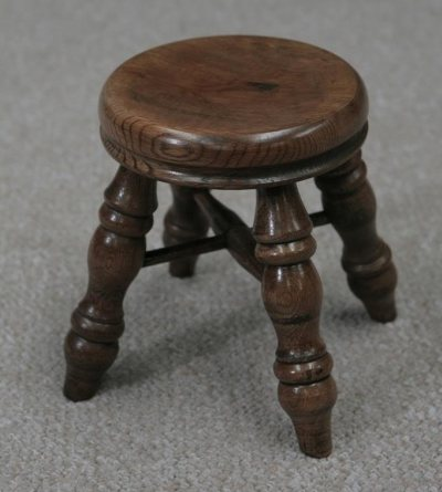 solid oak childs stool