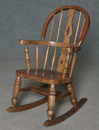 solid oak childs rocking chairs