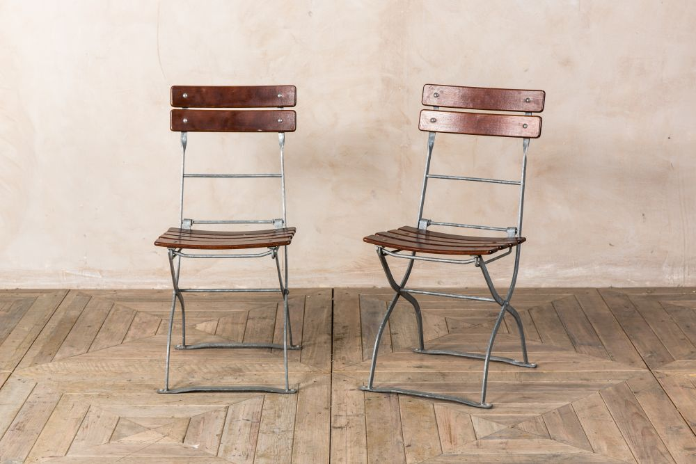 slatted vintage outdoor folding chairs