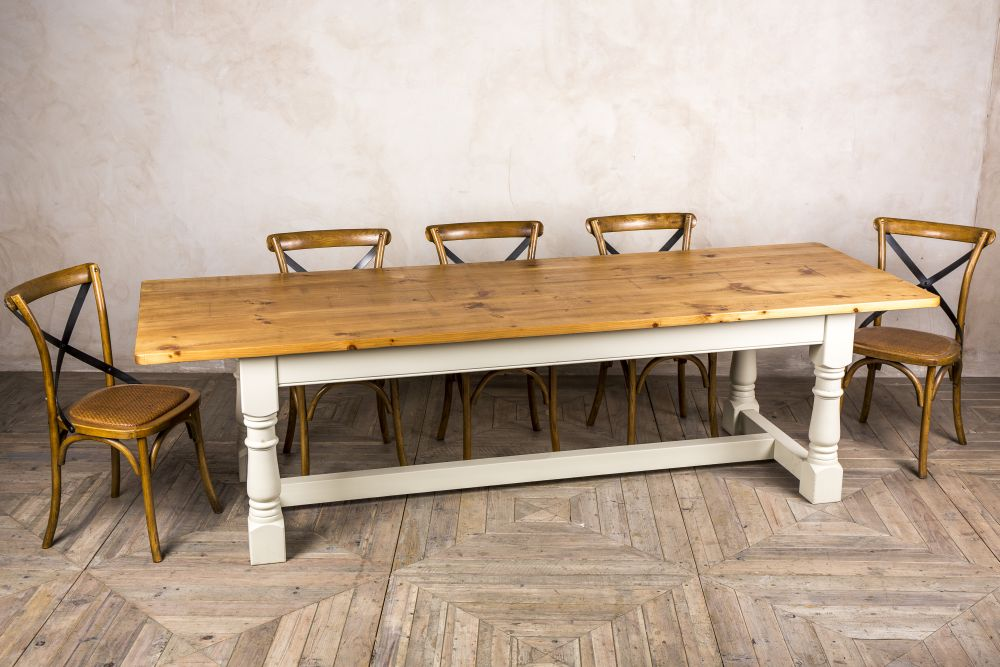 large reclaimed pine refectory table