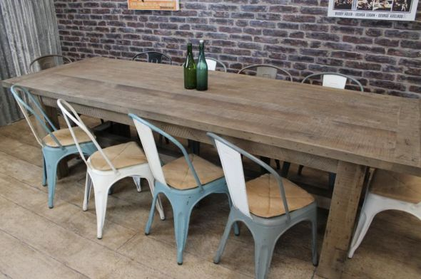 chunky dining room table.  OAK FARMERS TABLE DINING Peppermill Interiors