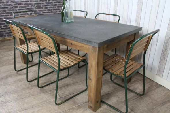 Zinc Topped Dining Table