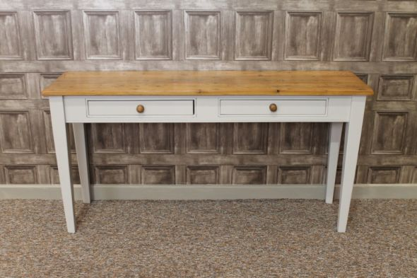 Antique taper leg console table (Stewart)