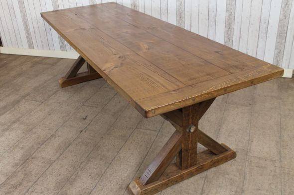 Pine Trestle Dining Table The Clifton