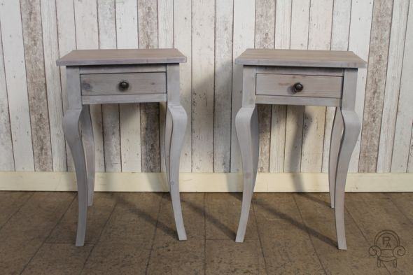 Reclaimed pine french style bedside table small side table watchthetrailerfo