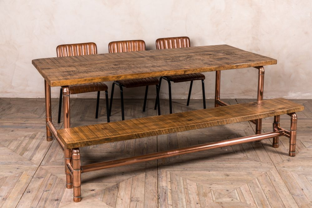 industrial copper pipework table