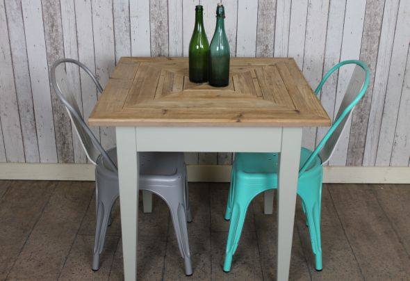 reclaimed pine cafe table rustic peppermill interiors