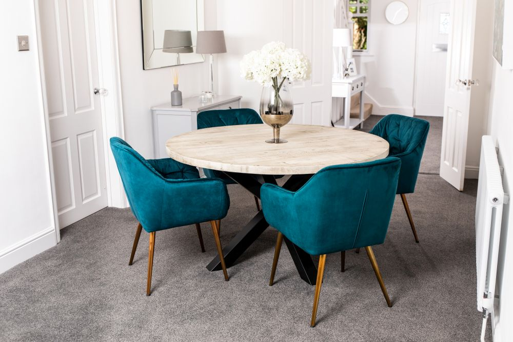 Velvet Dining Chair With Arms, Dining Room Chairs With Arms