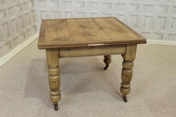 Victorian Pine Extending Table Antique Victorian Pine Kitchen Table