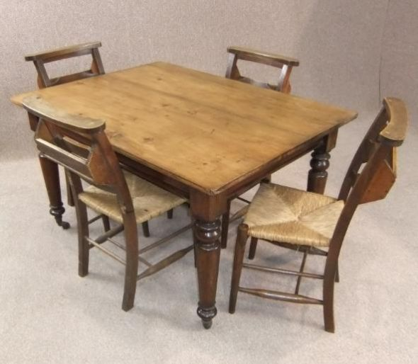 Victorian kitchen table images table decoration ideas watchthetrailerfo victorian pine kitchen table and four chapel chairs watchthetrailerfo workwithnaturefo