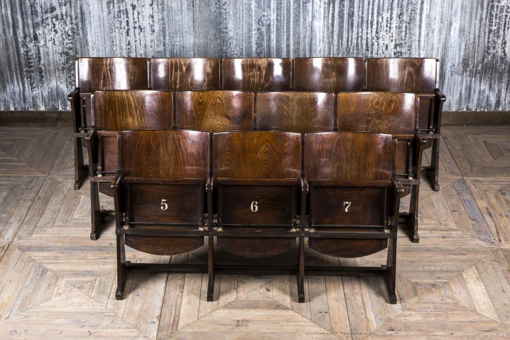 vintage folding cinema seats