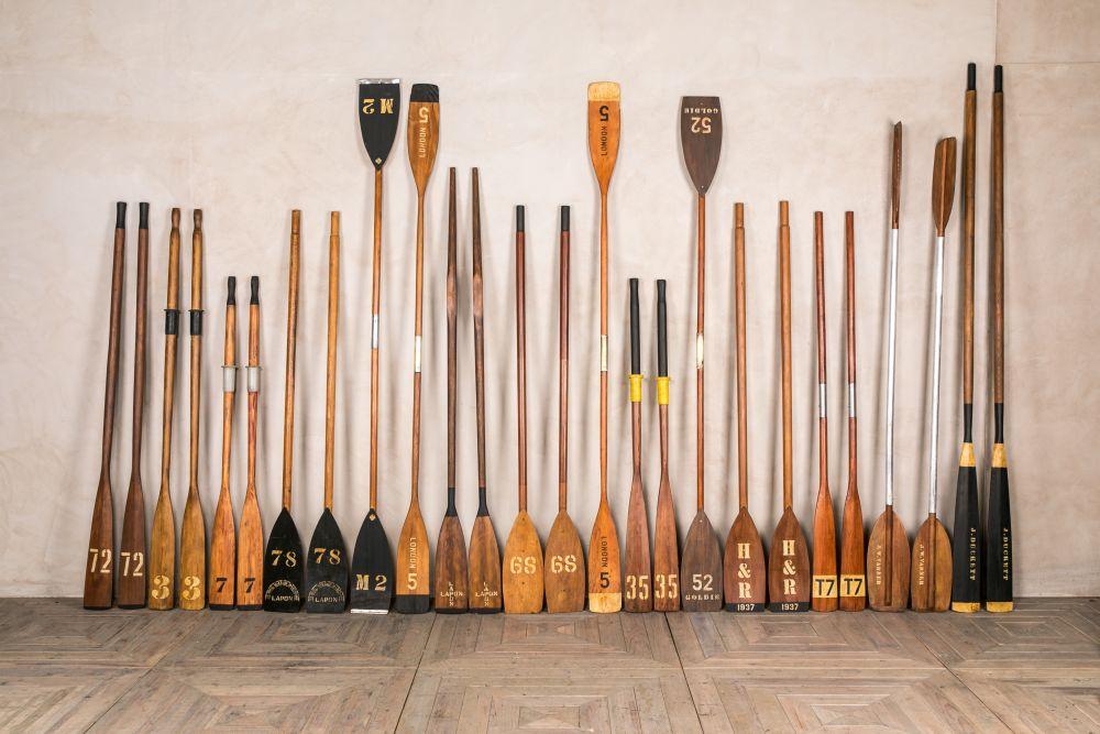 Wooden Oars Kayak Paddles Boating Memorabilia