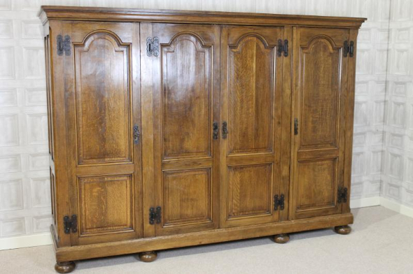 oak jacobean wardrobe